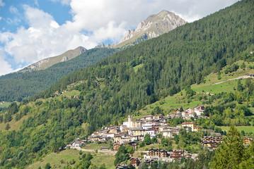 Caratteristico borgo alpino