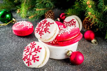 Christmas macaron cookies