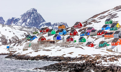Kangamiut - colorful arctic village in the middle of nowhere