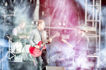 Soft blur blurred rock music stage background