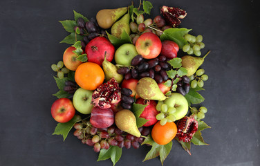 Fruits on a dark background