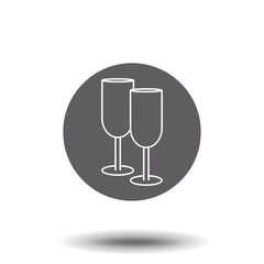 2138f2c3d1 Champagne Glasses Icons. Wedding toasting