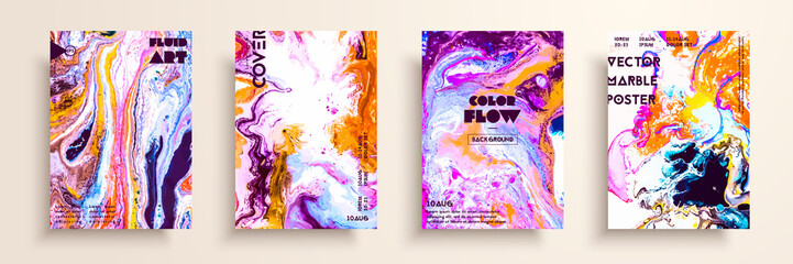Fototapete - Mixture of acrylic paints. Modern artwork. Trendy design. Marble effect painting. Graphic hand drawn design for cover, poster, card, invitation, placard, brochure, flyer, etc.