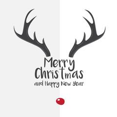 antler christmas card template