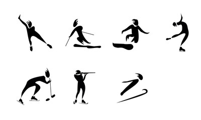 pictograms athletes
