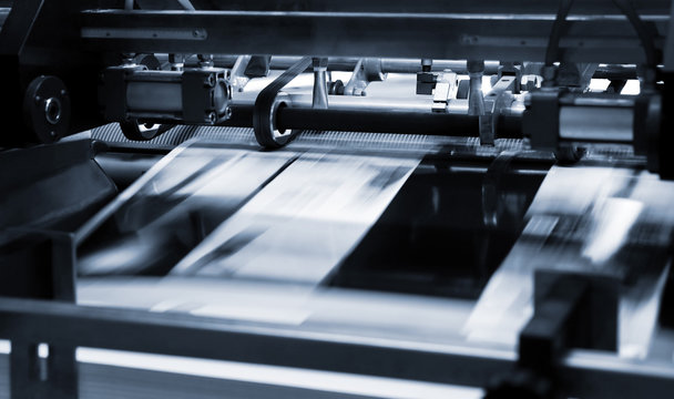 Polygraphic process in a printing house