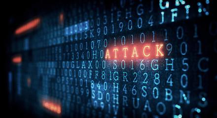Wall Mural - Danger of hack attack