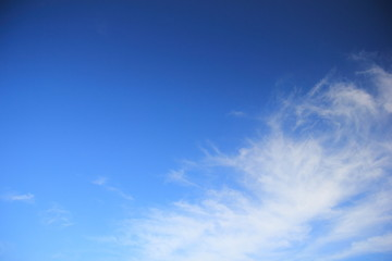 Cirrus cloud and blue sky for background.