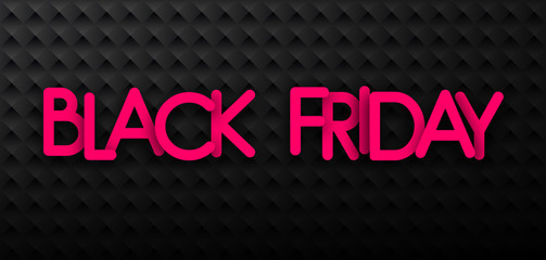 Black friday sale promotion banner on textured background.