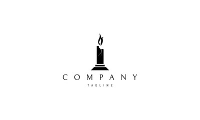 Candle vector logo image
