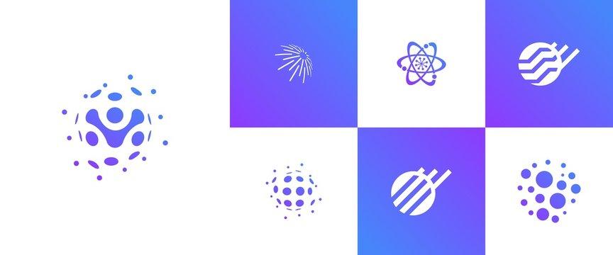 logo crypto blockchain  clean modern