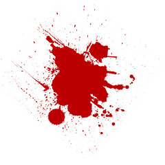 Blood drops on a white background. illustration.