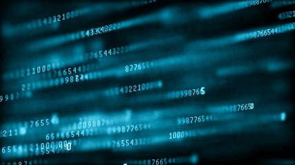 Digital background matrix. Binary computer code. Hacker concept. 3d rendering