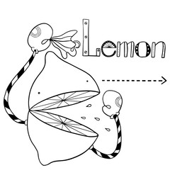 cartoon lemon in Boxing gloves and with a handkerchief