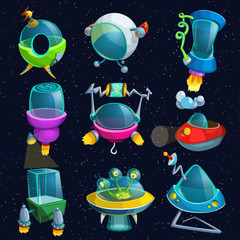 space ships set