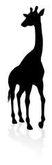 A high quality giraffe animal silhouette