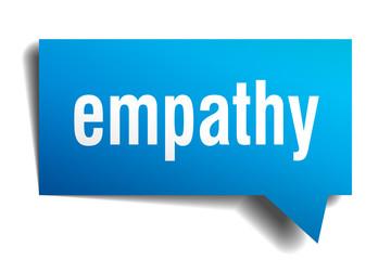 empathy blue 3d speech bubble