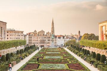 Foto op Canvas Brussel Bruxelles, mont des arts