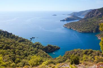 Beautiful lagoon on Lycian way in Oludeniz, Turkey