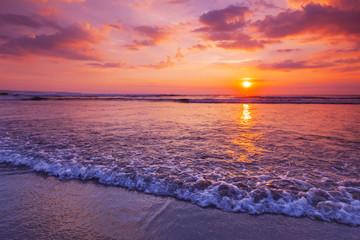 Radiant sea beach sunset
