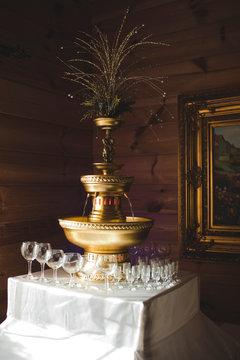 vintage gold fountain