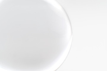 glass sphere isolated on a white background