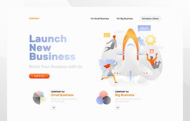 Business Start Up Web Page