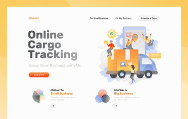 Cargo Tracking Web Page