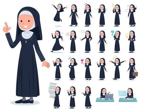 flat type Nun women_emotion