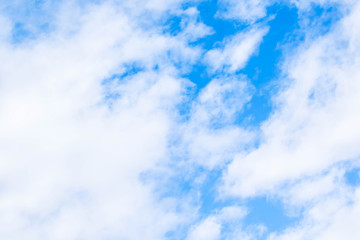 blue sky with different shades of clouds for design background