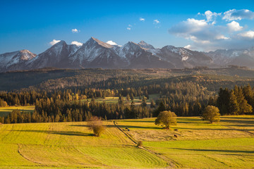 Rural Tatras mountains landscape