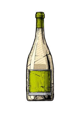 illustration of Wine bottle.