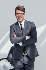 close up.portrait of a successful businessman