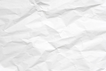 White crumpled paper texture background. Wall mural