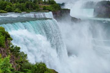 Niagara Falls. A view from Niagara State Park on American Falls.