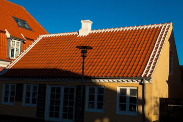 danish house with shadow