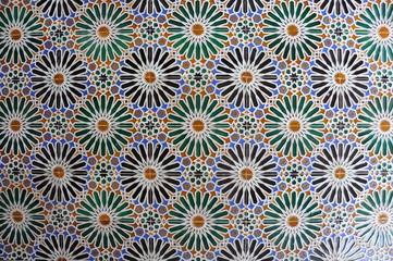 Azulejos em padrão árabe