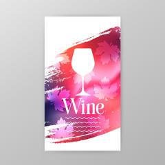 Wineglass promotion banner for wine tasting event, restaurant menu, winery vector illustration. Brochure, poster, invitation card design