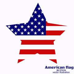 Banner with flag of USA.