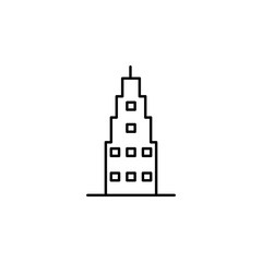 Building outline icon. Element of architecture illustration. Premium quality graphic design outline icon. Signs and symbols outline icon for websites, web design, mobile app