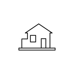 Building, home outline icon. Element of architecture illustration. Premium quality graphic design outline icon. Signs and symbols outline icon for websites, web design, mobile app