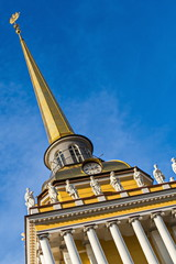 Admiralty needle. Spire, crowning the Admiralty building in St. Petersburg.