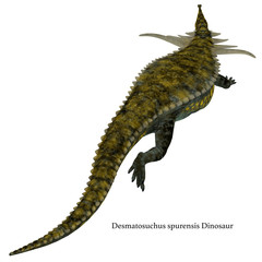 Desmatosuchus Dinosaur Tail with Font