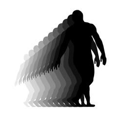 Wrestler isolated silhouette vector EPS 10