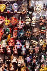 Máscaras en mercado Chichicastenango
