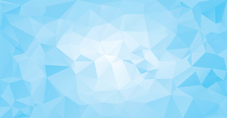 Low poly Geometric blue ice banner  triangular baner background