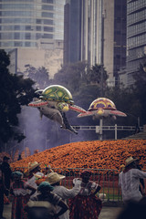 Papiers peints Dragons Desfile Día de muertos Ciudad de México 2018
