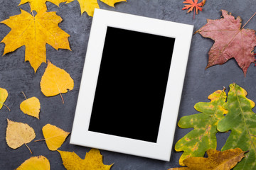 Photo frame with leaves