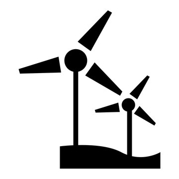 Wind turbine icon. Simple illustration of wind turbine vector icon for web design isolated on white background