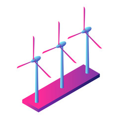 Wind turbine plant icon. Isometric of wind turbine plant vector icon for web design isolated on white background